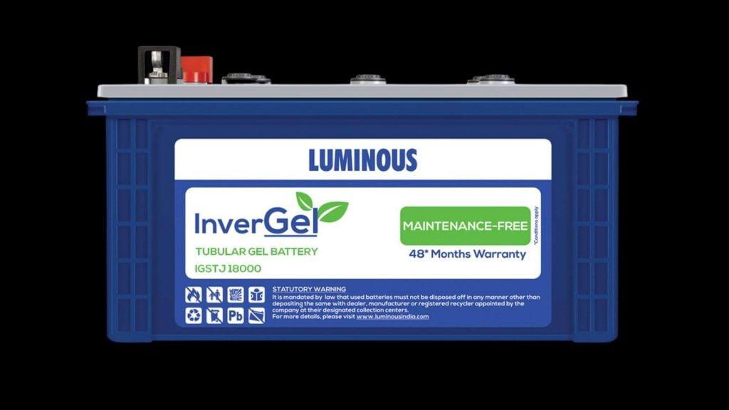LUMINOUS INVERGEL IGSTJ 18000 150 AH GEL TUBULAR BATTERY