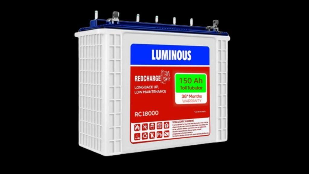 LUMINOUS RC 18000 150 AH TALL TUBULAR BATTERY REVIEW 2021